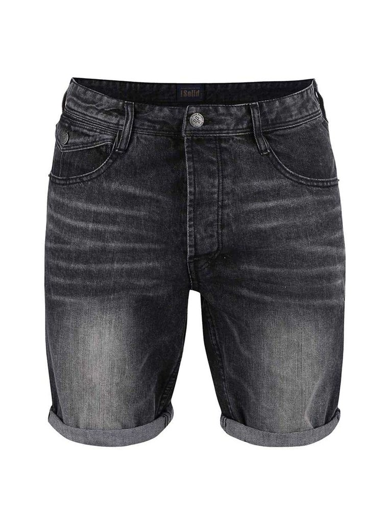 Tmavě šedé džínové kraťasy !Solid Fredo