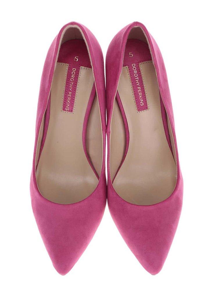 Růžové lodičky na jehlovém podpatku Dorothy Perkins