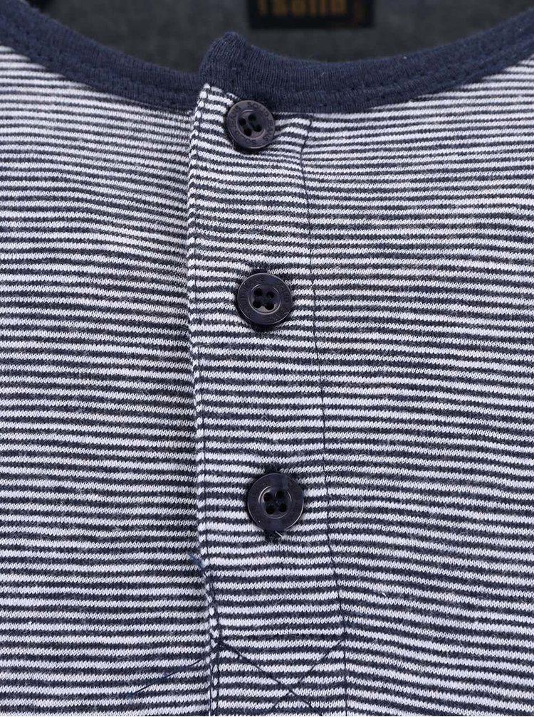 Modro-šedé triko s dlouhým rukávem !Solid Bauer