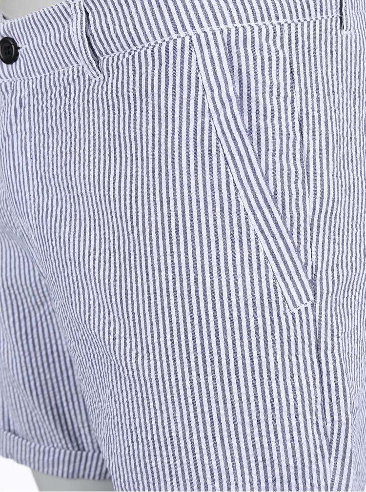 Modro-biele pruhované kraťasy !Solid Alvar