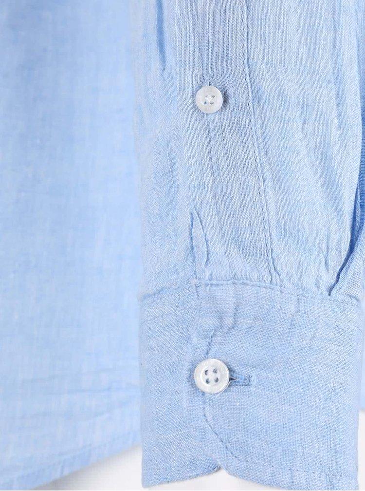 Modrá lněná košile !Solid Casey