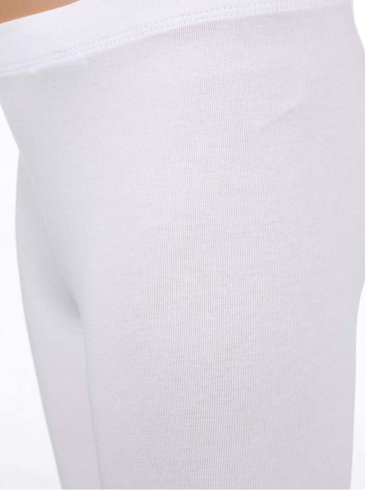 Biele dievčenské legíny s čipkovým lemom name it Vista