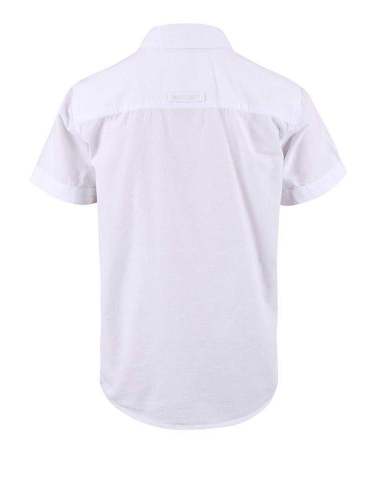 Bílá klučičí košile s krátkým rukávem name it Gerbert