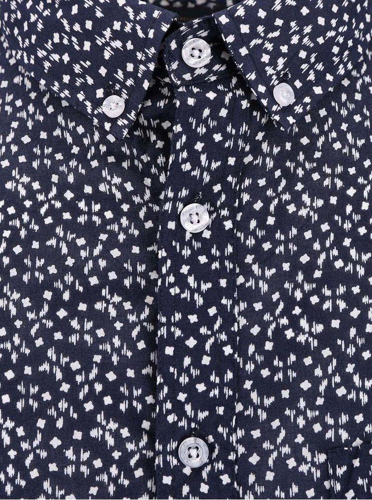 Modrá vzorovaná košile !Solid Berthold
