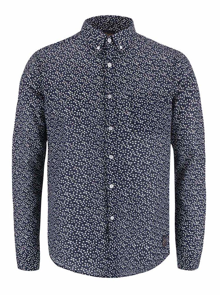 Modrá vzorovaná košeľa !Solid Berthold