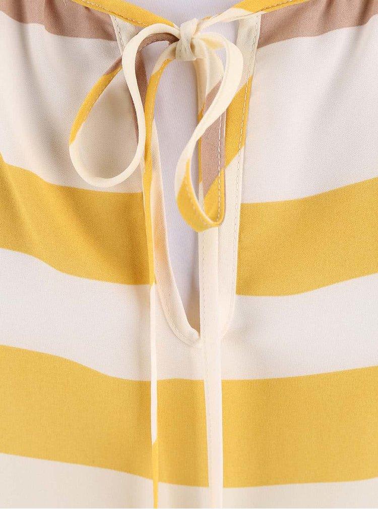 Krémový top so žltými pruhmi Dorothy Perkins