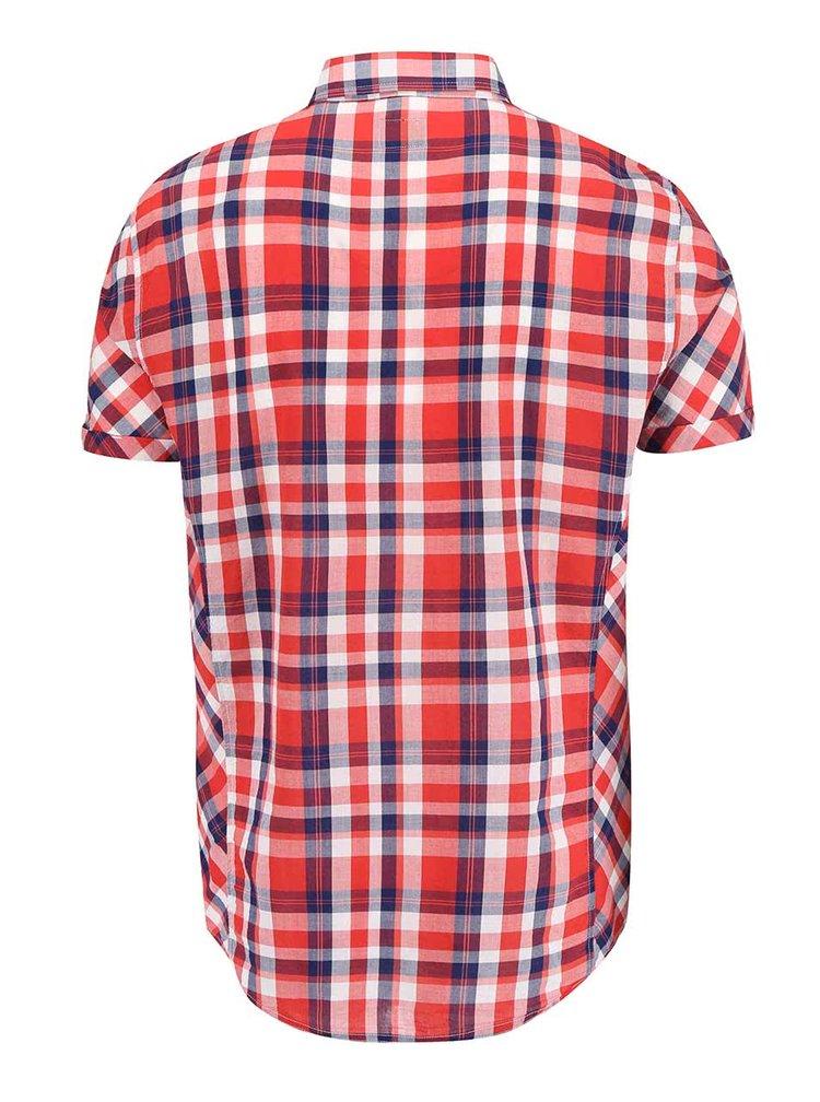 Červená károvaná košeľa s krátkym rukávom !Solid Cadman