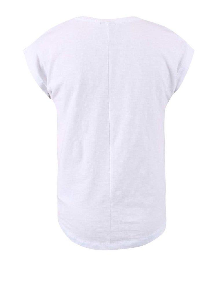 Biele dievčenské tričko s melónom name it Helly