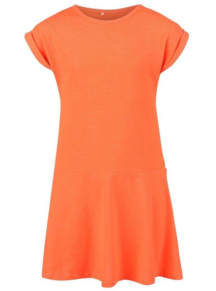 Svietivo oranžové dievčenské šaty name it Havita