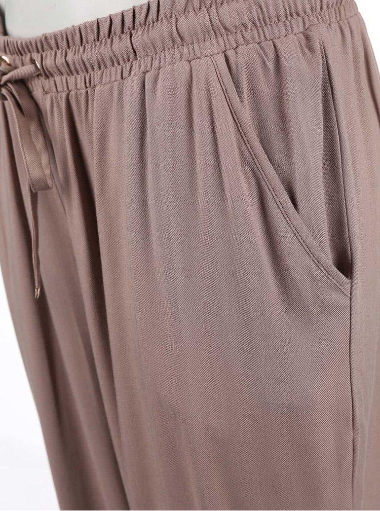 Svetlohnedé voľnejšie nohavice Dorothy Perkins