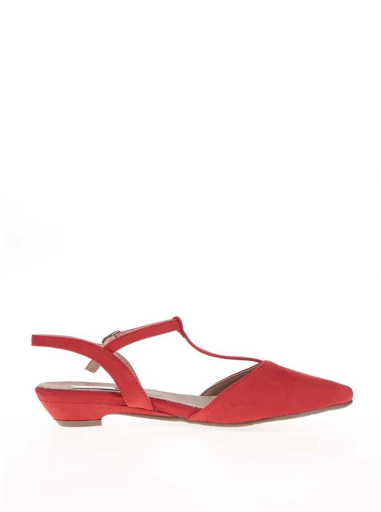 Červené sandále s uzavretou špičkou Xti