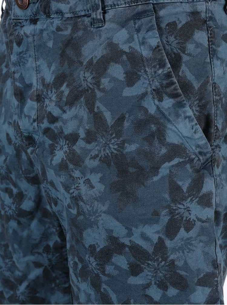 Modré květované kraťasy ONLY & SONS Drake