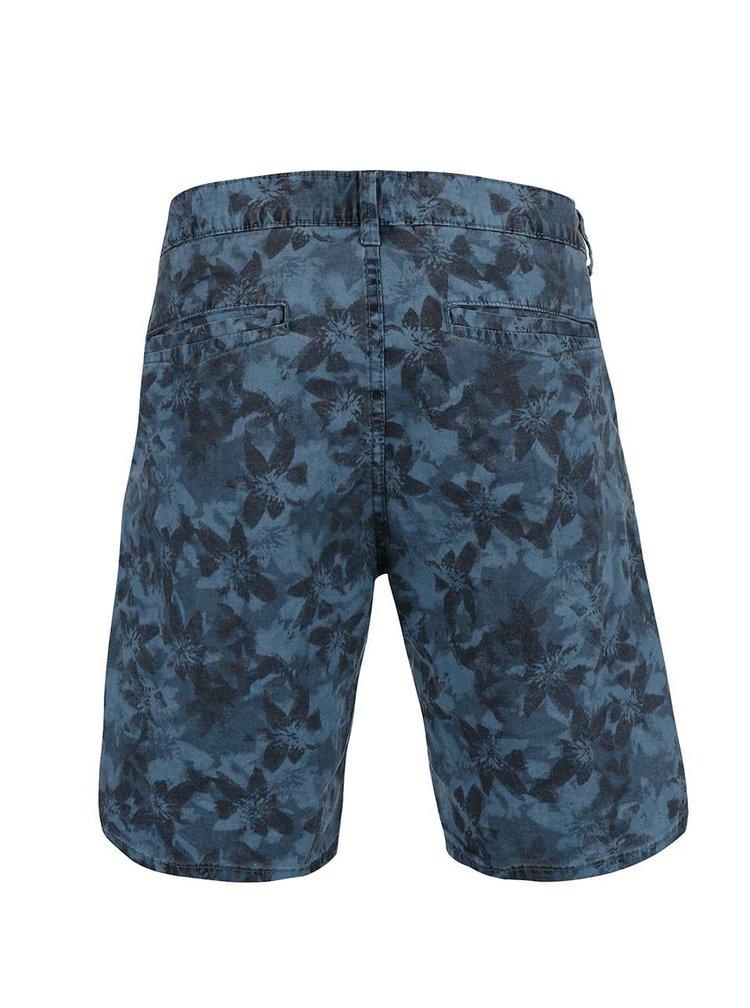 Pantaloni scurți ONLY & SONS Drake albaștri cu model floral