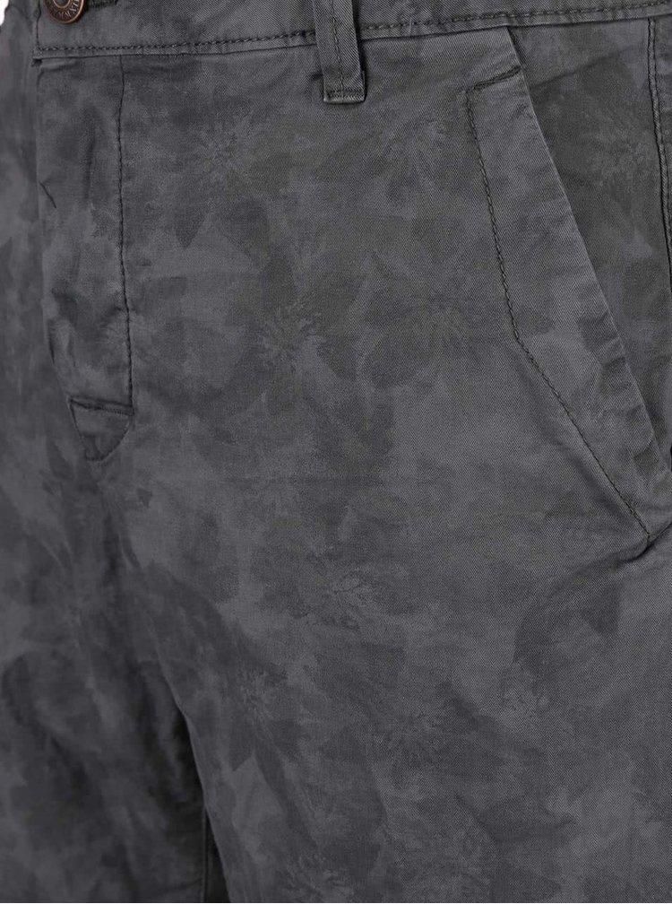 Sivé kvetované kraťasy ONLY & SONS Drake
