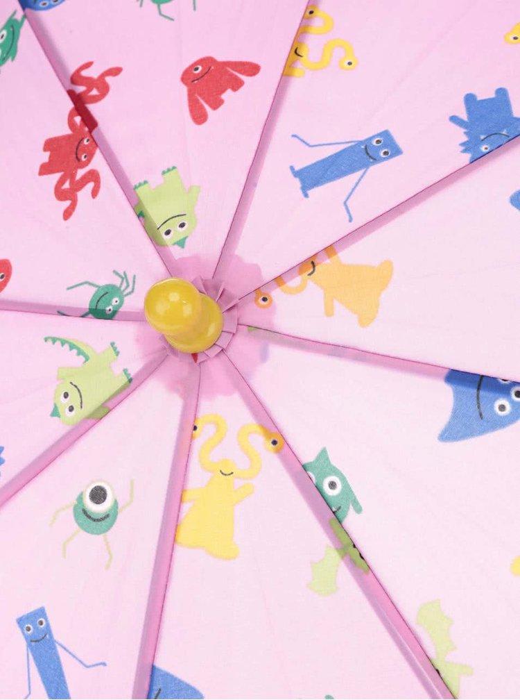 Transparentní růžový holčičí deštník s.Oliver