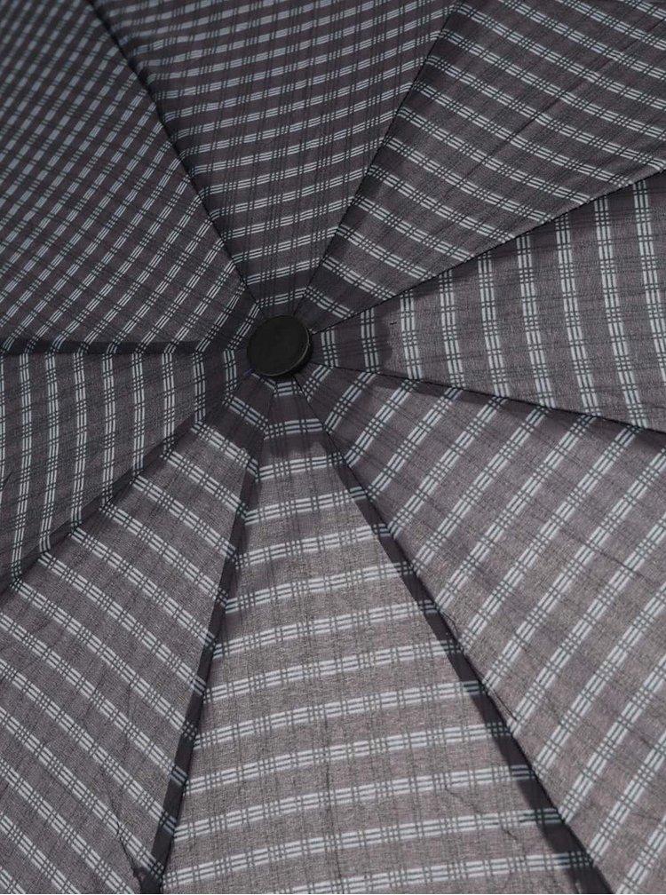 Zeleno-černý pánský vzorovaný skládací deštník Derby