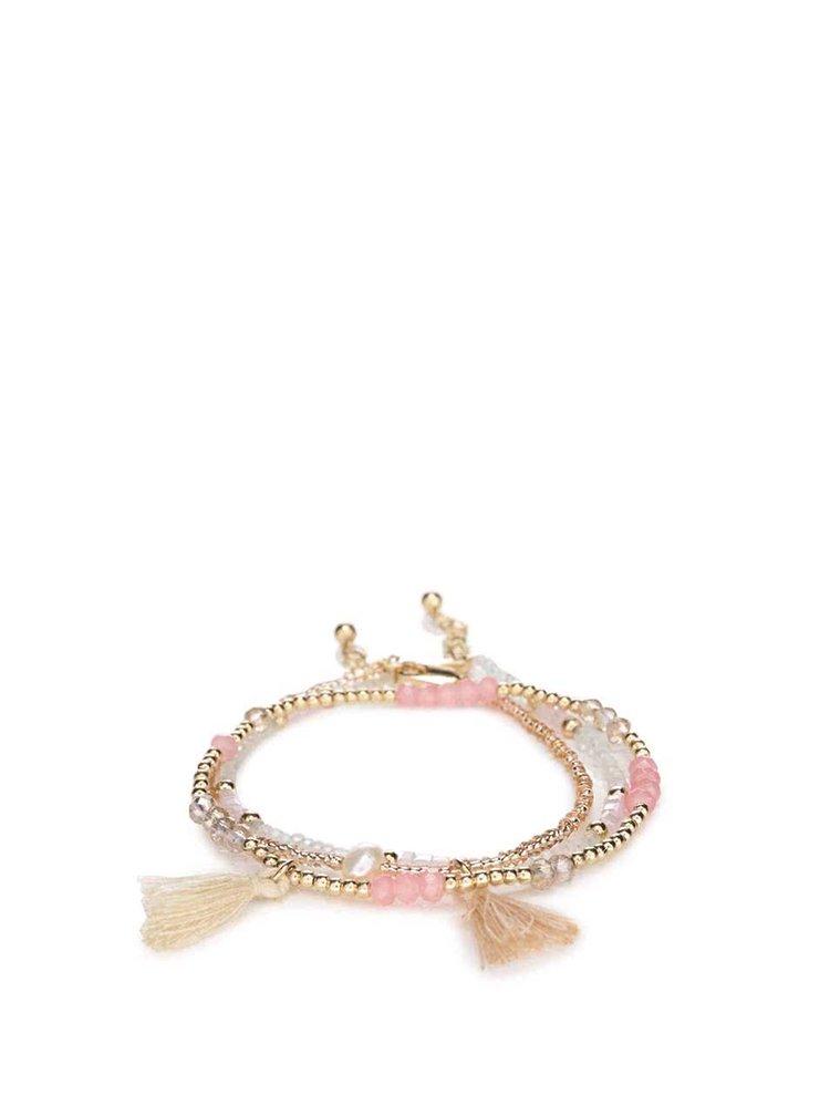 Ružový korálkový náramok Pieces Belissa