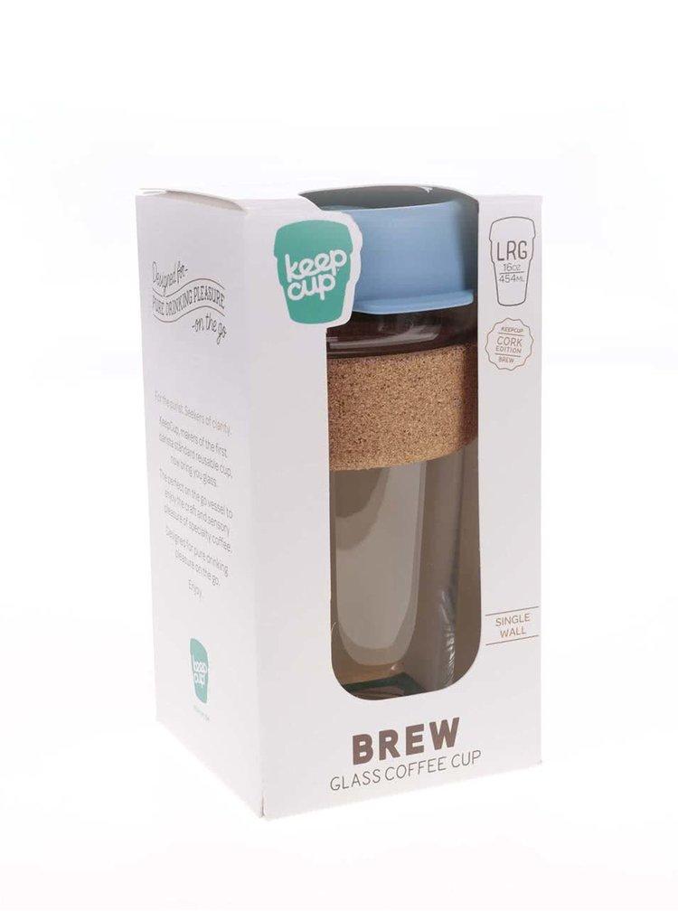 Designový cestovní skleněný hrnek KeepCup Brew Rock Salt Cork Large