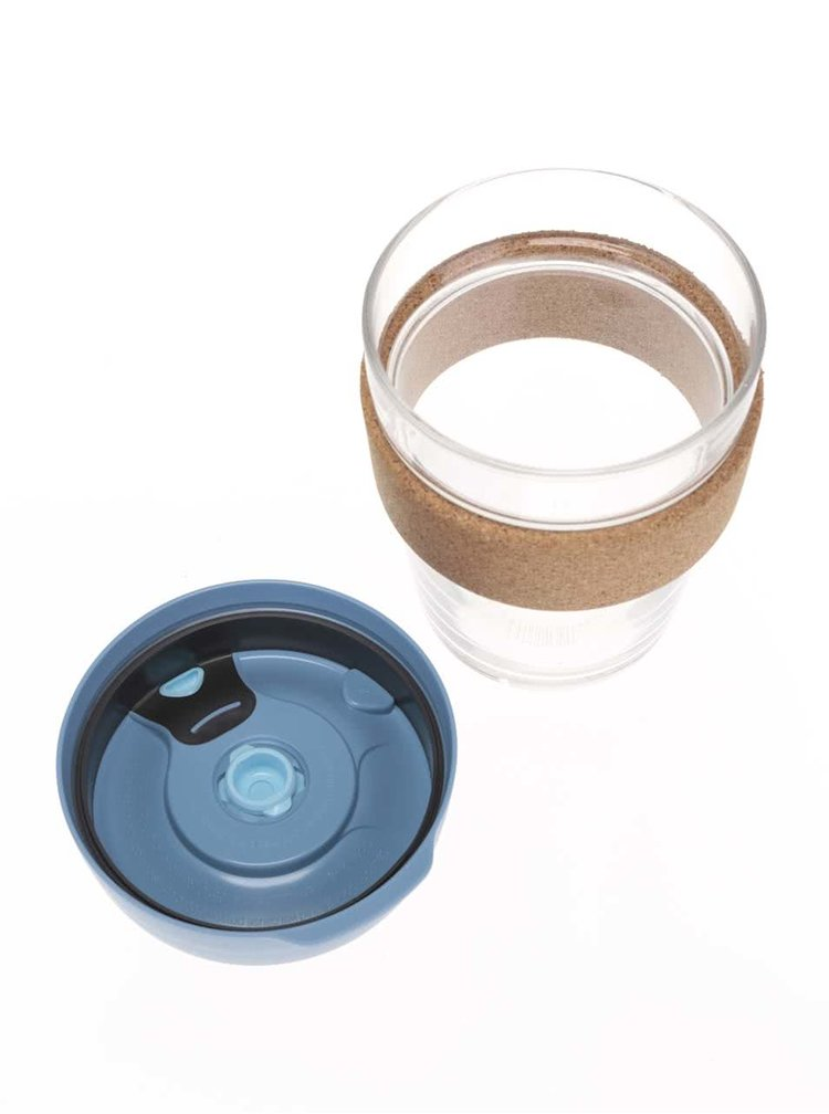 Designový cestovní skleněný hrnek KeepCup Brew Rock Salt Cork Medium