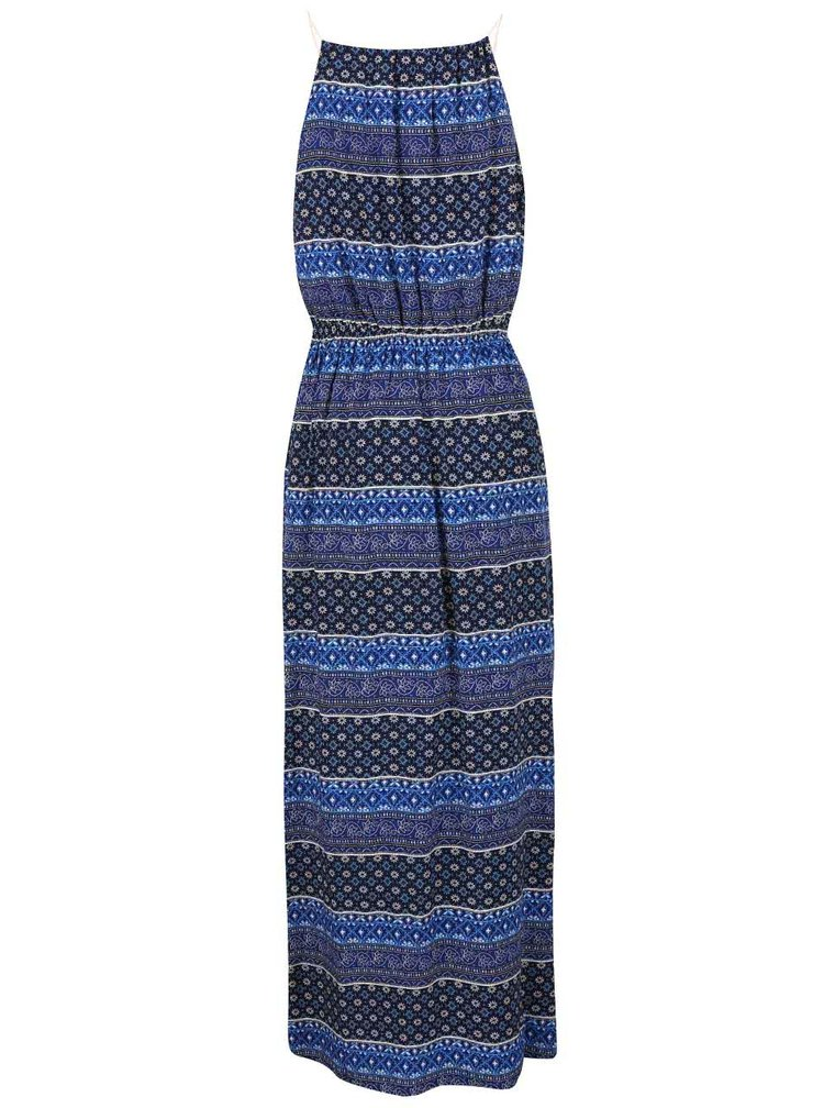 Rochie maxi ONLY Nova albastră cu imprimeu