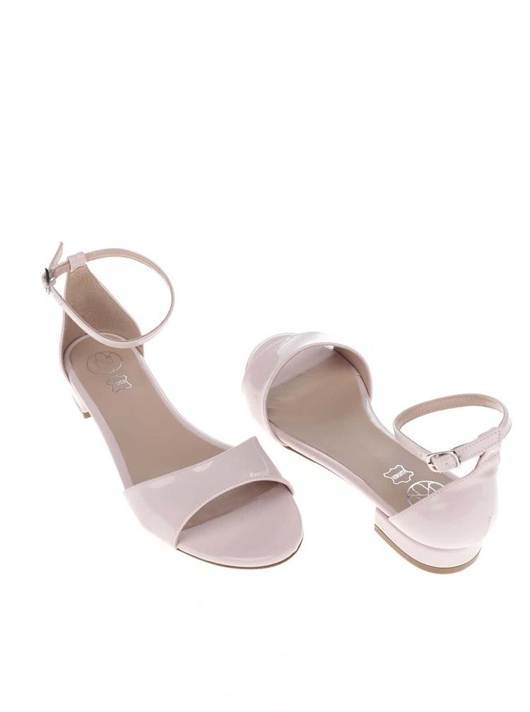 Světle růžové lakované sandálky OJJU