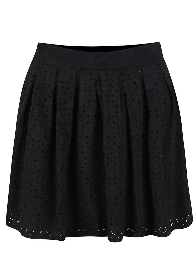 Černá sukně s perforovaným vzorem ONLY Lola