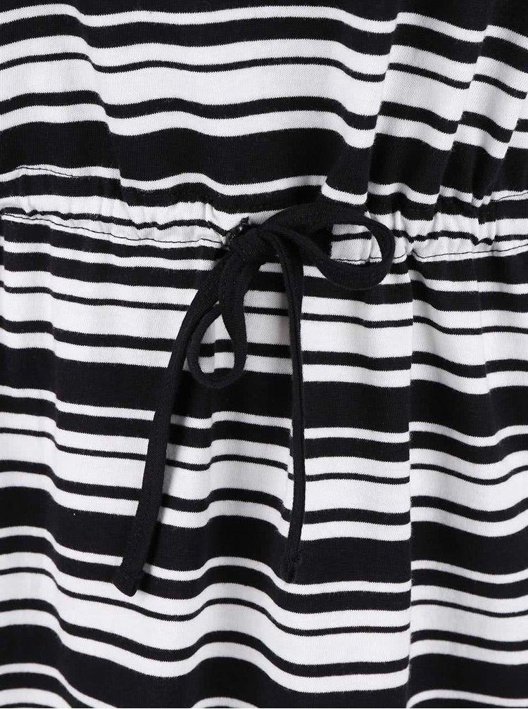 Bílo-černé pruhované šaty ONLY May