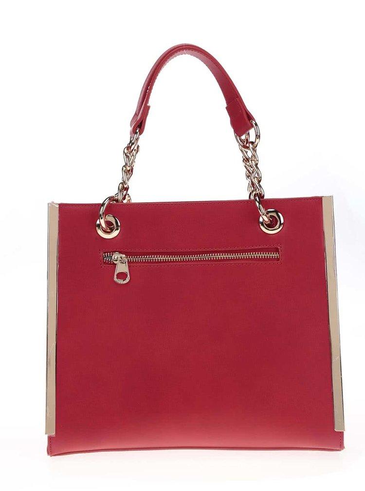 Geantă Anna Smith roșie pătrată