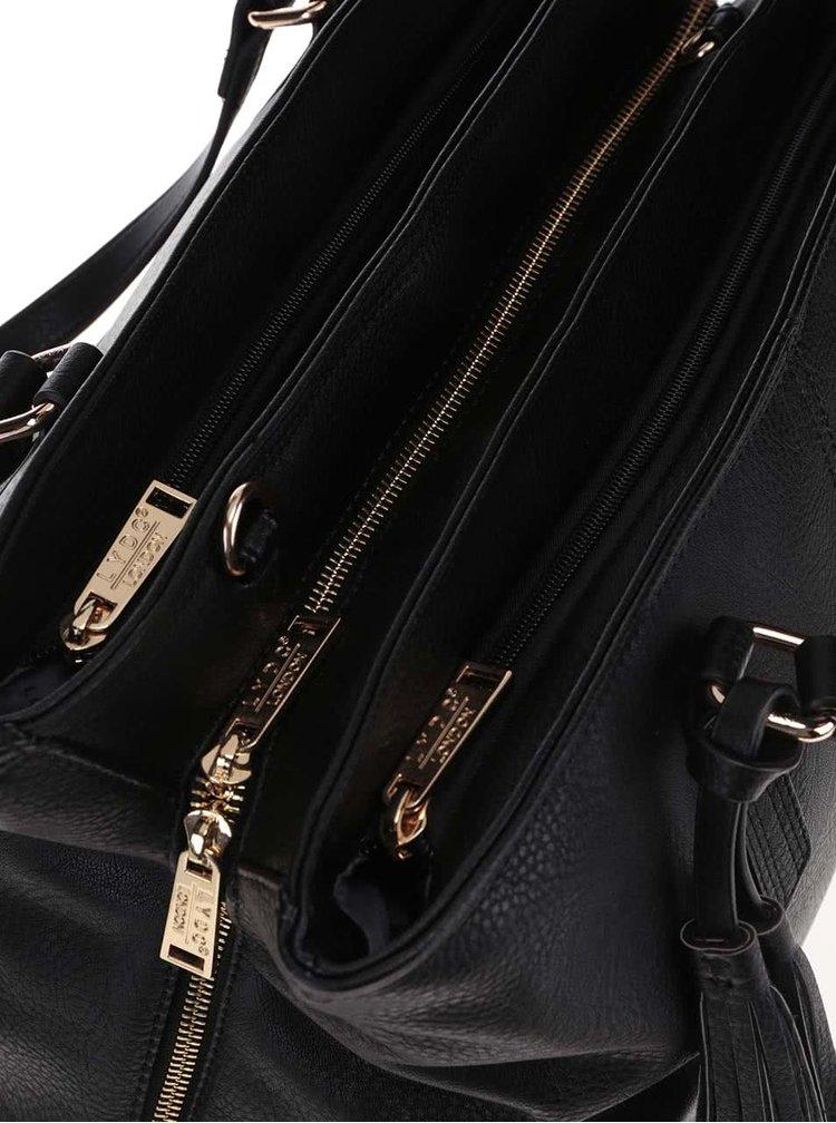 Černá kabelka se střapcem LYDC