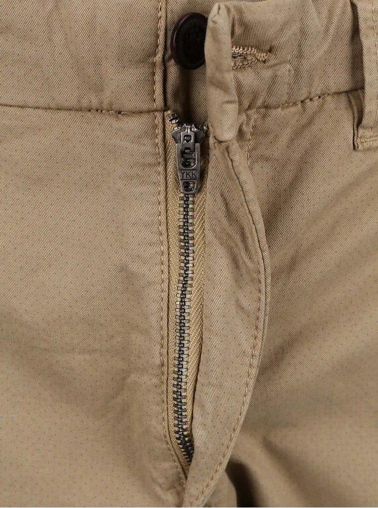 Béžové chino kalhoty se vzorem Jack & Jones Marco