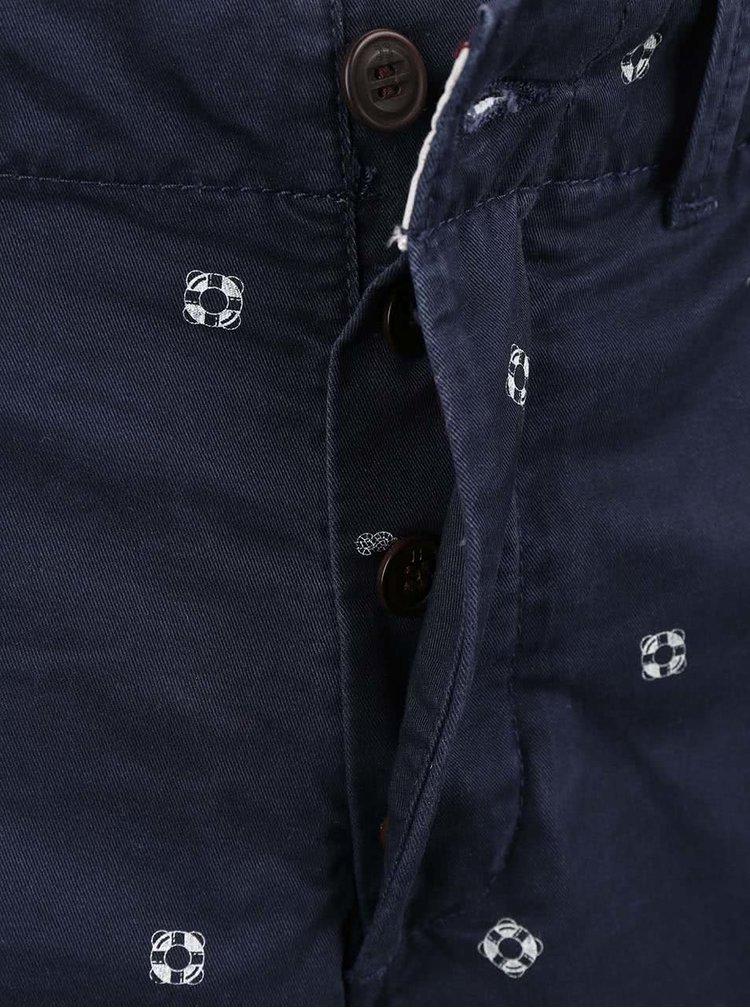 Tmavě modré vzorované kraťasy Jack & Jones Graham