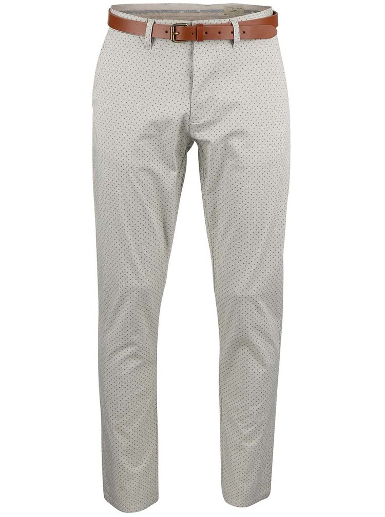 Šedé kalhoty s křížky Selected Homme Yard