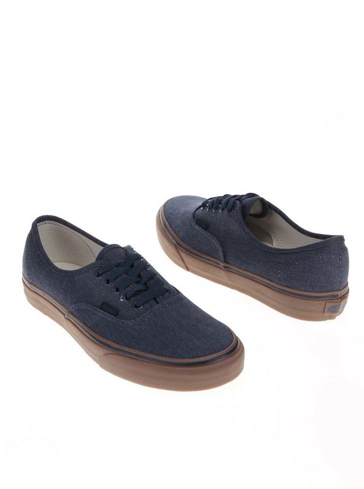Tmavě modré denimové pánské tenisky Vans