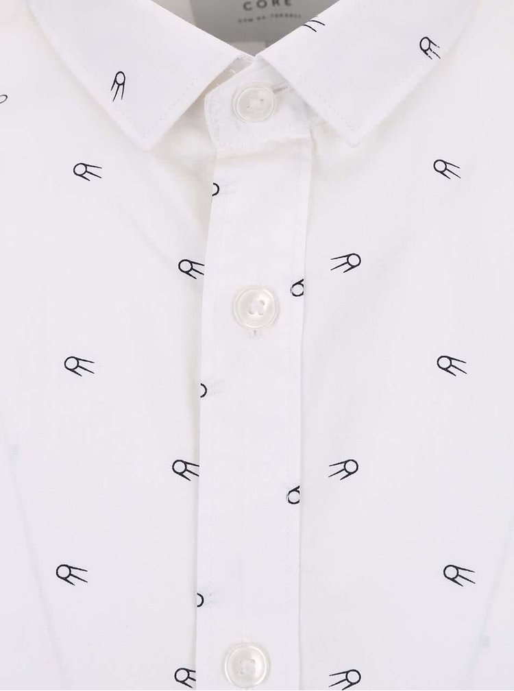 Cămașă Jack & Jones Mozz albă cu model