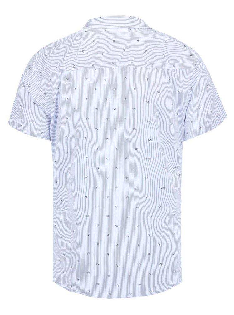 Modrá vzorovaná košeľa s krátkym rukávom Jack & Jones Mozz