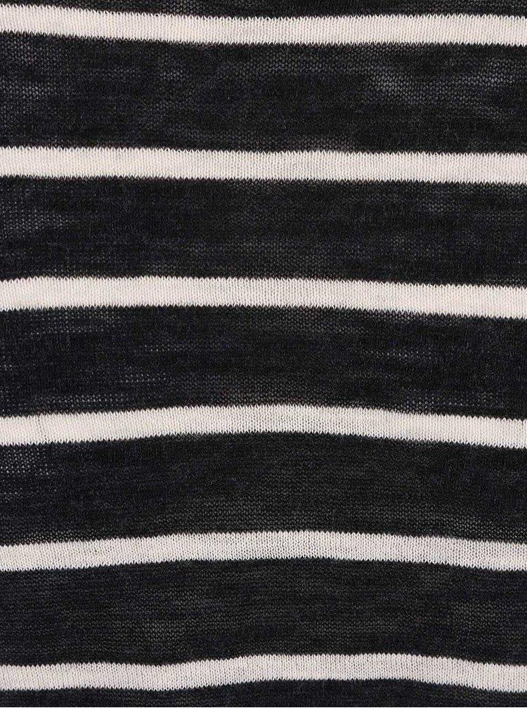 Bluză Selected Homme Elias crem cu negru, în dungi