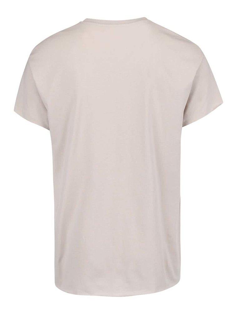 Svetlobéžové tričko Selected Homme Dean