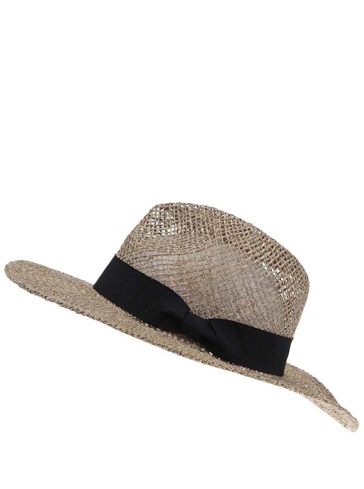 Slamený klobúk s čiernou mašľou VERO MODA Ellen