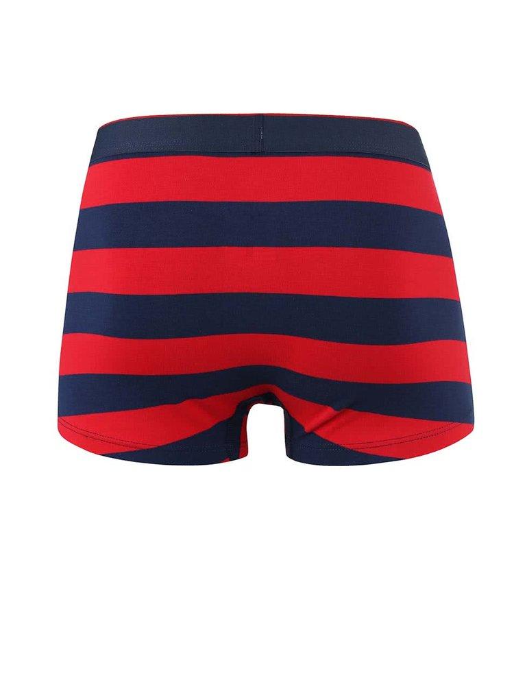 Modro-červené pruhované boxerky GANT