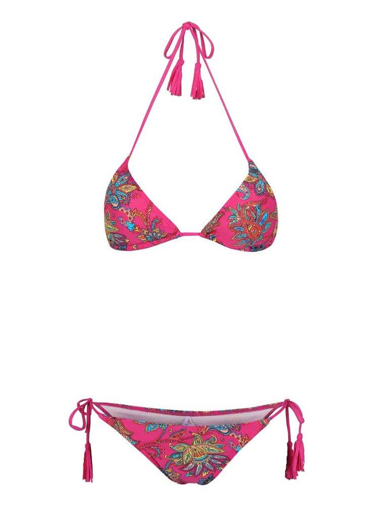 Růžové dámské plavky se vzorem O'Neill Paisley