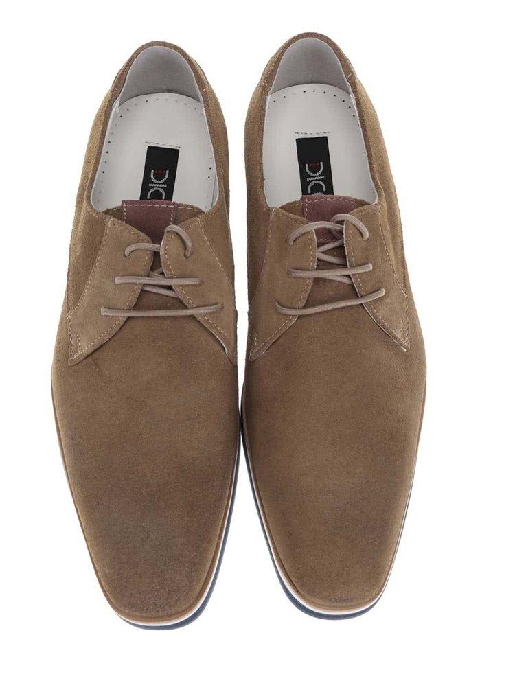 Pantofi maro din piele întoarsă Dice Garfield