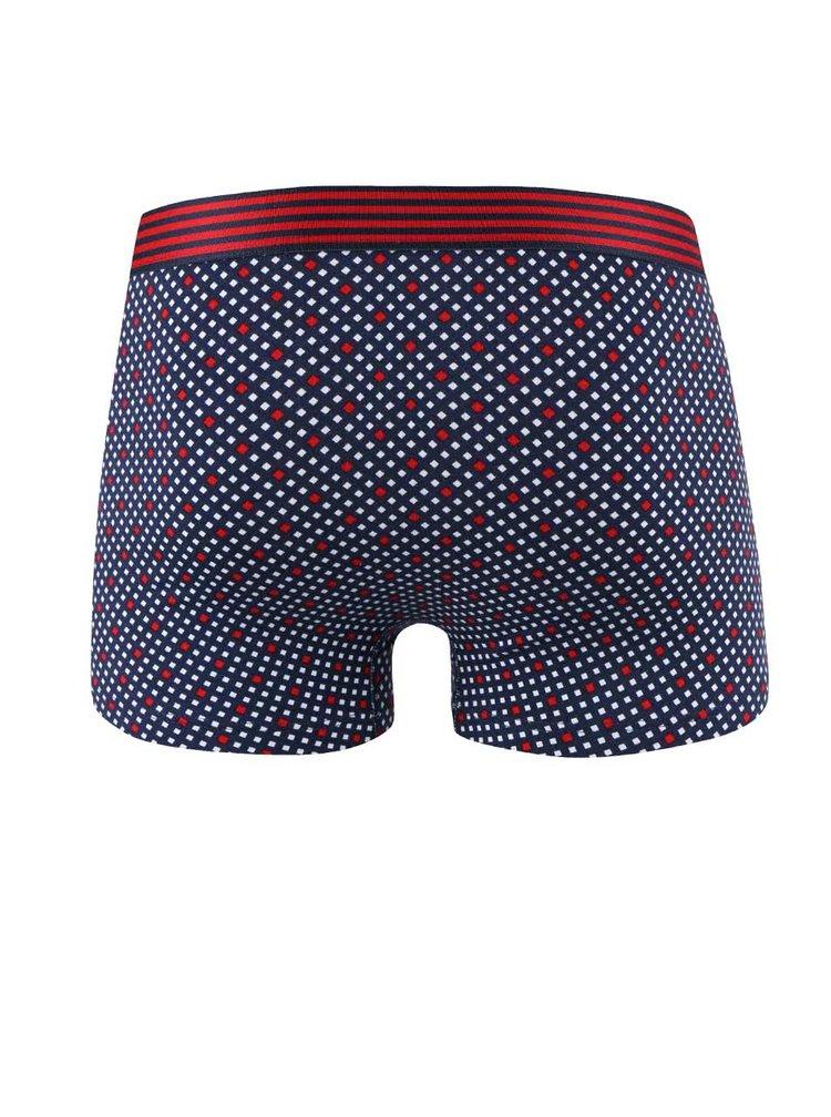 Tmavomodré vzorované boxerky GANT