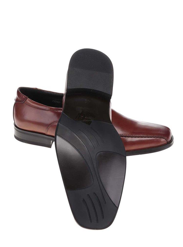 Pantofi din piele Dice Lee maro