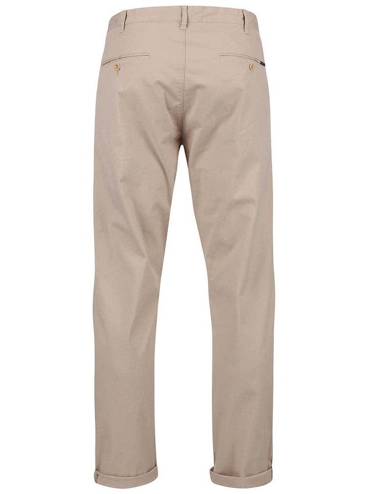 Béžové pánske chino nohavice GANT