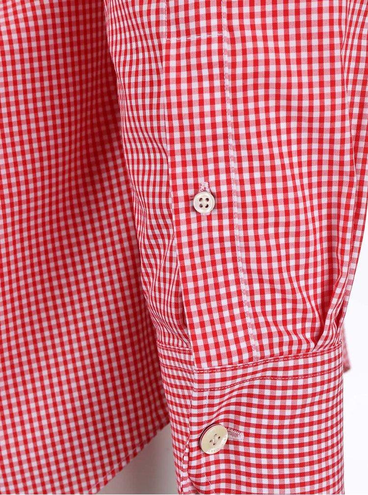 Červená pánská kostkovaná košile GANT