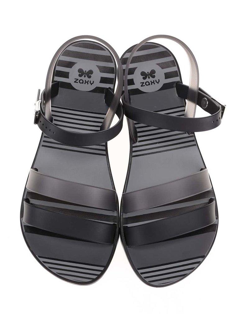 Sivo-čierne plastové sandálky Zaxy Fashion Urban Sandal