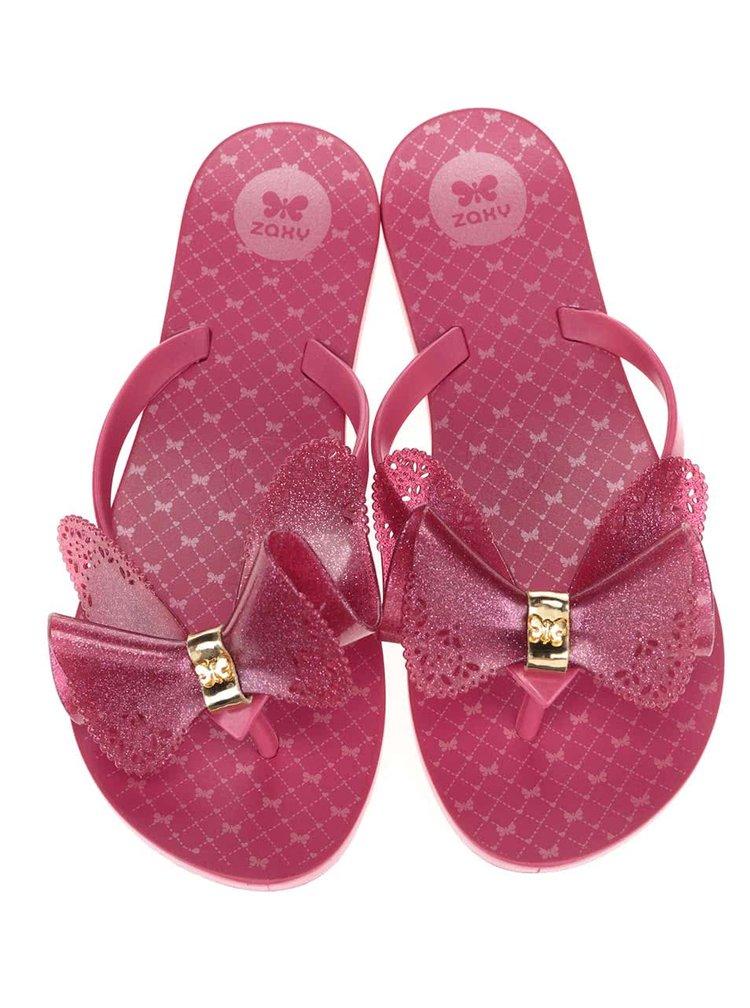 Șlapi Zaxy Fresh Butterfly roz cu fundă
