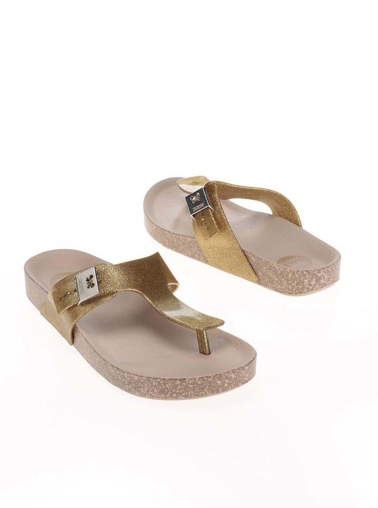 Șlapi Zaxy Fashion Flat Thong aurii