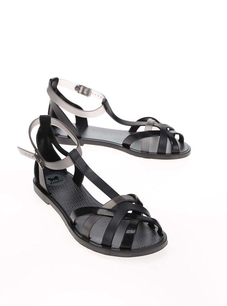 Šedo-černé plastové sandálky Zaxy Fashion Frozen