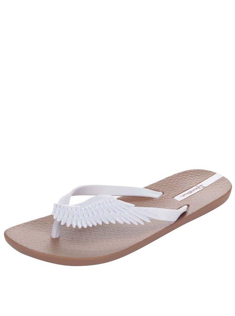 Bílo-hnědé žabky s křídly Ipanema Summer Love